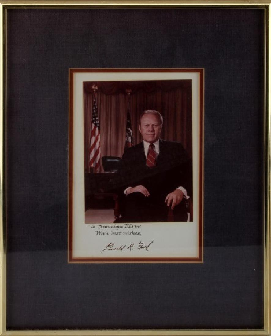 AUTOGRAPHED PHOTO OF US PRESIDENT GERALD FORD