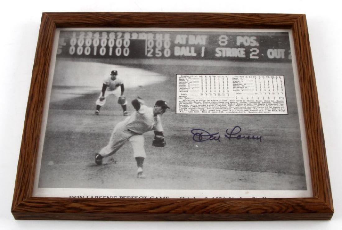 DON LARSEN PERFECT GAME PLAQUE SIGNED