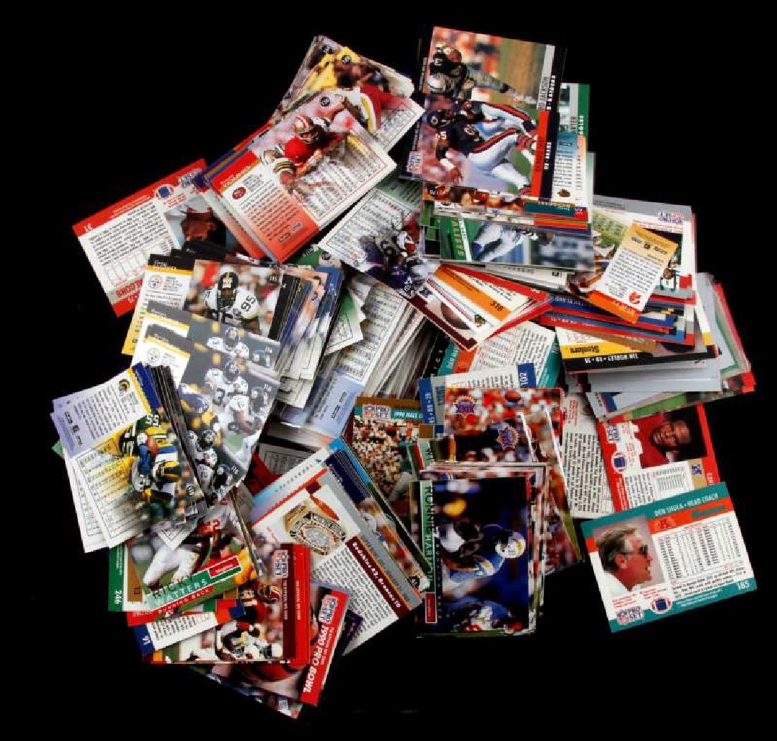LOT OF OVER 300 UNSEARCHED FOOTBALL TRADING CARDS