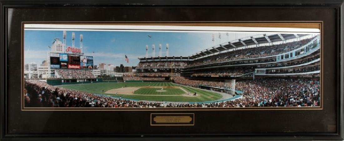 CLEVELAND INDIANS JACOBS FIELD PANORAMA FRAMED