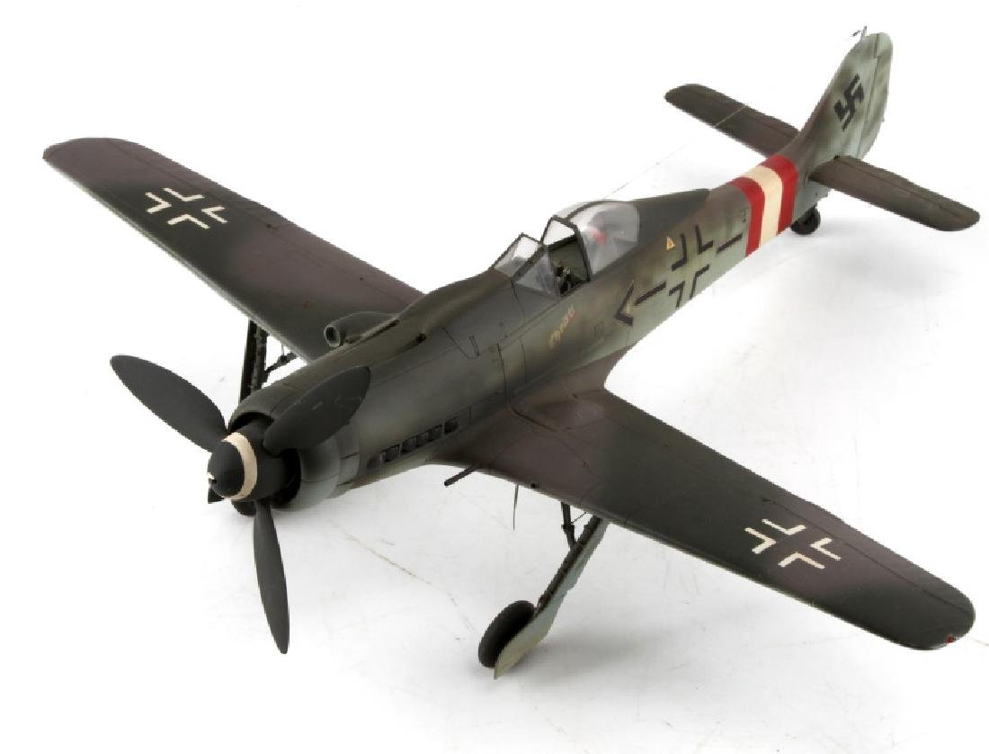 WWII GERMAN FW190 D MODEL AIRPLANE BY JOHN FICKLEN