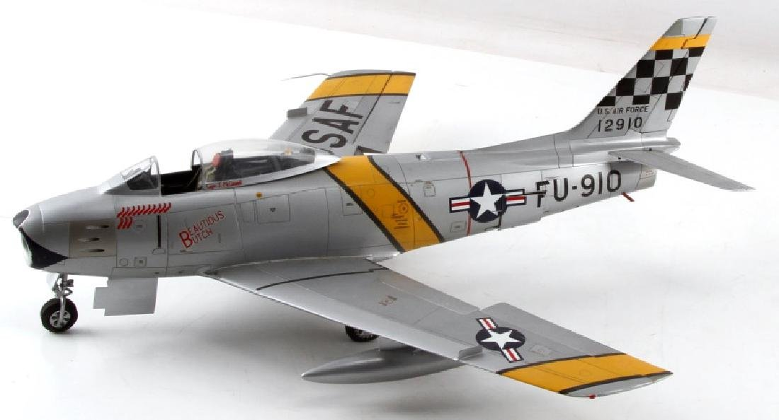 US AIR FORCE F86 SABRE FIGHTER JET MODEL BY FICKLE