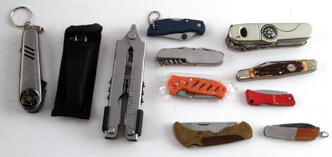 POCKET KNIFE AND MUTLI TOOL VARIOUS LOT OF 10