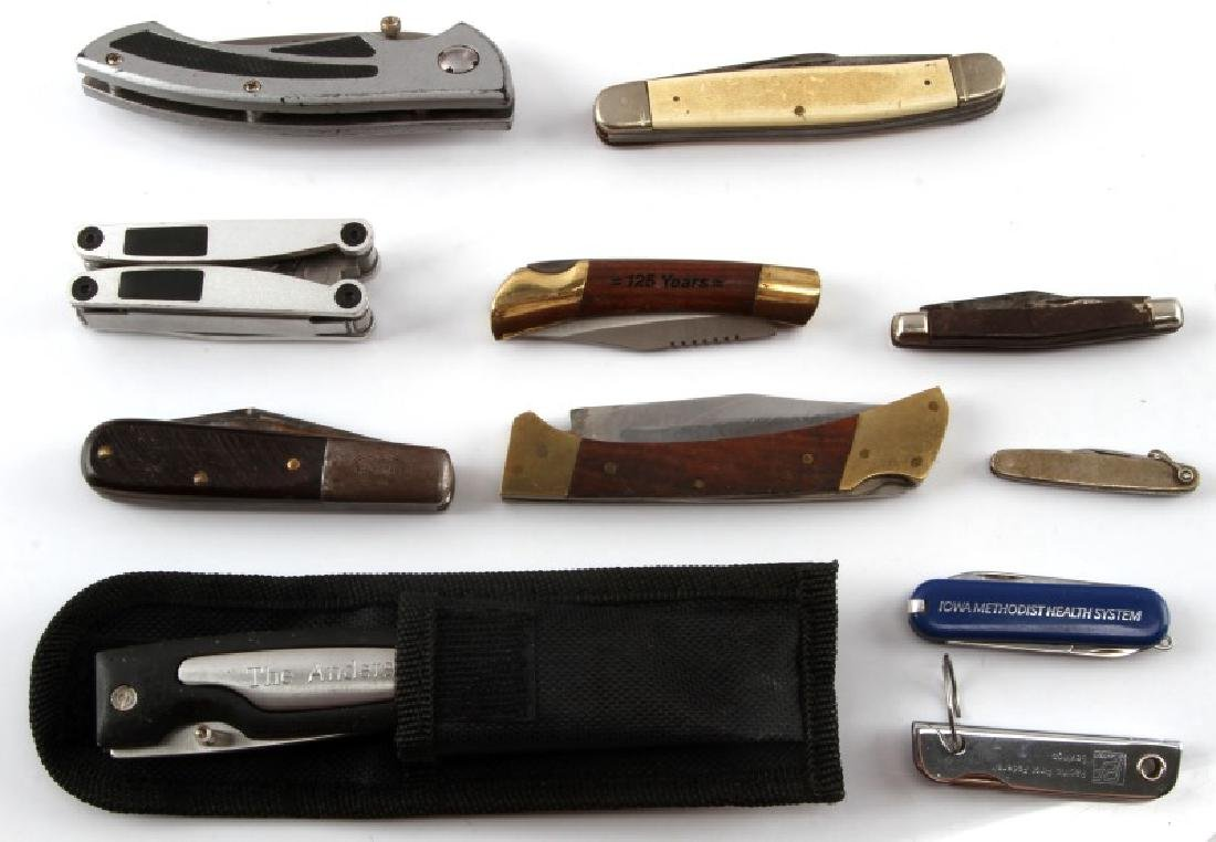 12290POCKET KNIFE AND MULTI TOOL VARIOUS LOT OF 11