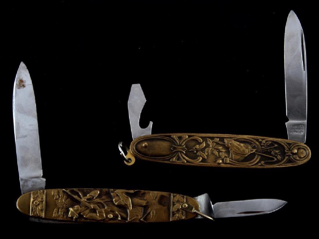 GERMAN SOLIGEN BRASS & STEEL POCKET KNIFE LOT OF 2