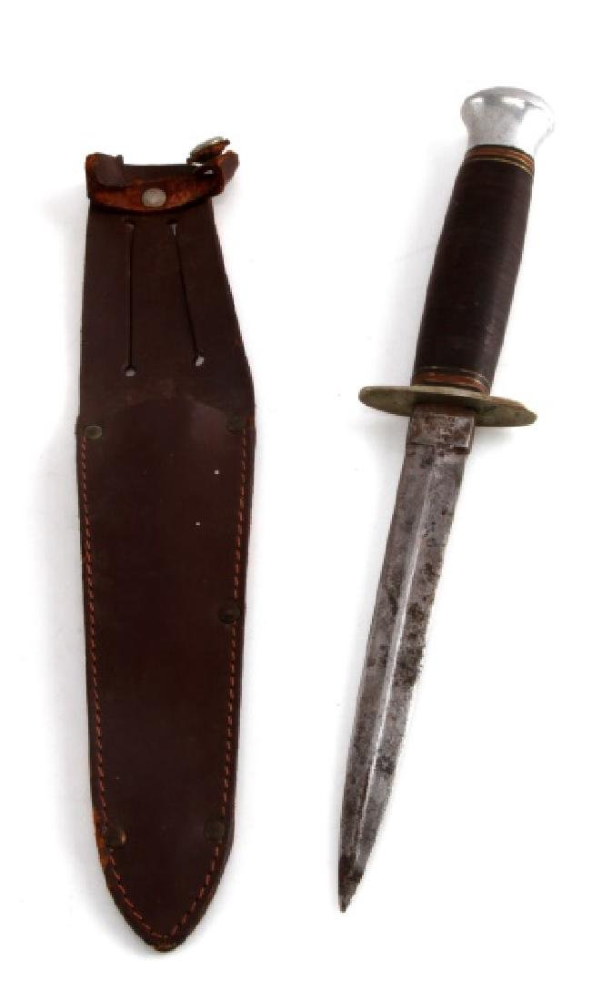 BRITISH WWII RODGERS COMMANDO KNIFE WITH SHEATH