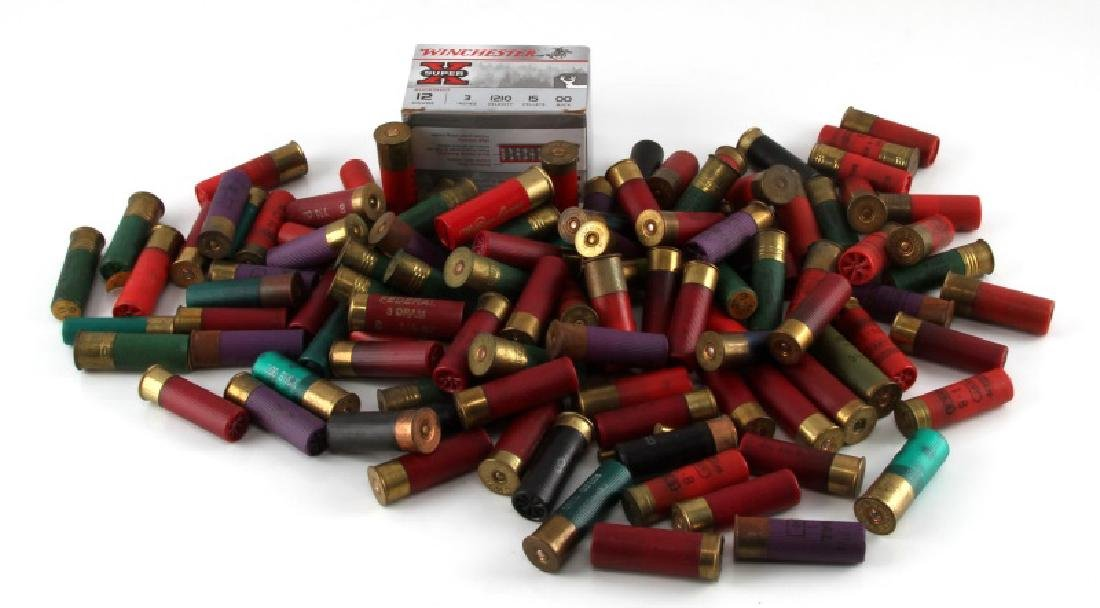 OVER 90 BUCK SHOT SHELLS 12 GA  AND 16 GA  AMMO