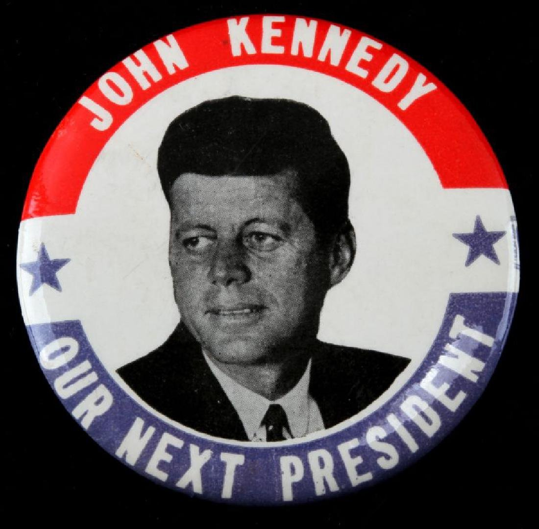 JOHN F KENNEDY PRESIDENTIAL CAMPAIGN BUTTON LARGE