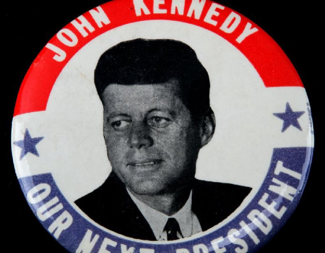 JOHN F KENNEDY PRESIDENTIAL CAMPAIGN BUTTON LARGE - 2