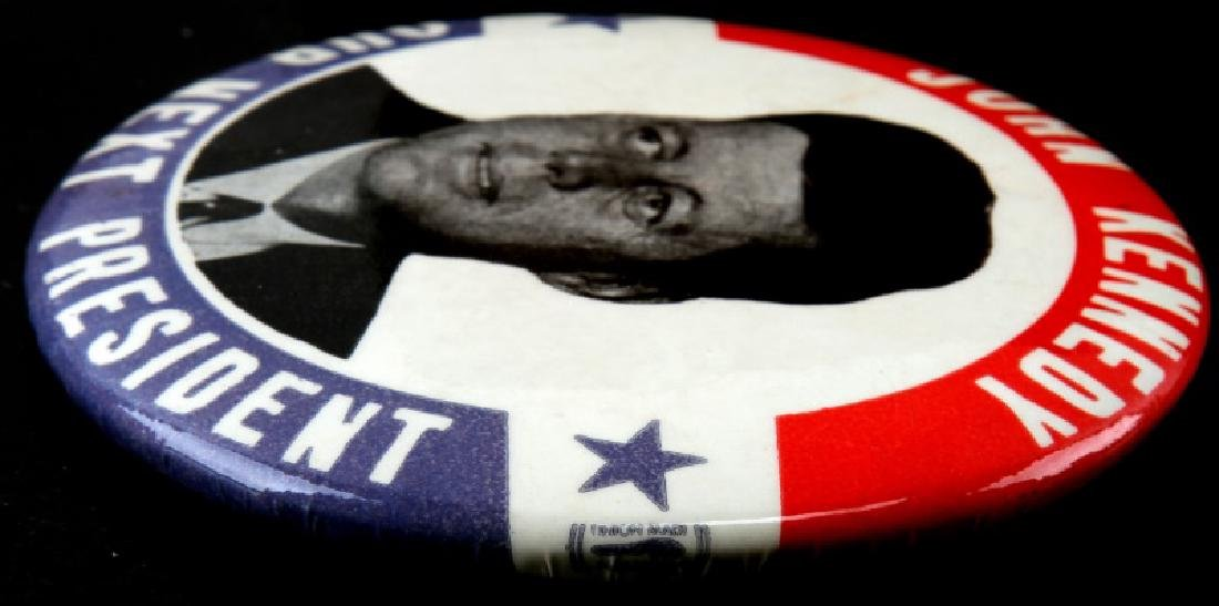 JOHN F KENNEDY PRESIDENTIAL CAMPAIGN BUTTON LARGE - 3