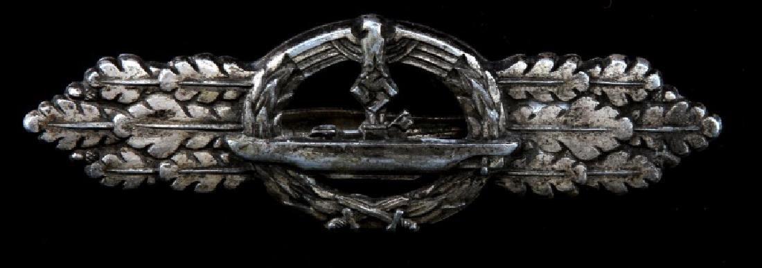 WWII GERMAN THIRD REICH U BOAT SILVER COMBAT CLASP