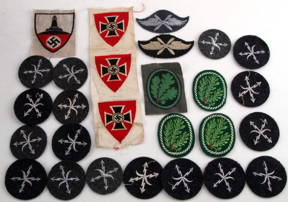 25 GERMAN WWII PATCHES DRKB LIGHT INFANTRY MORE