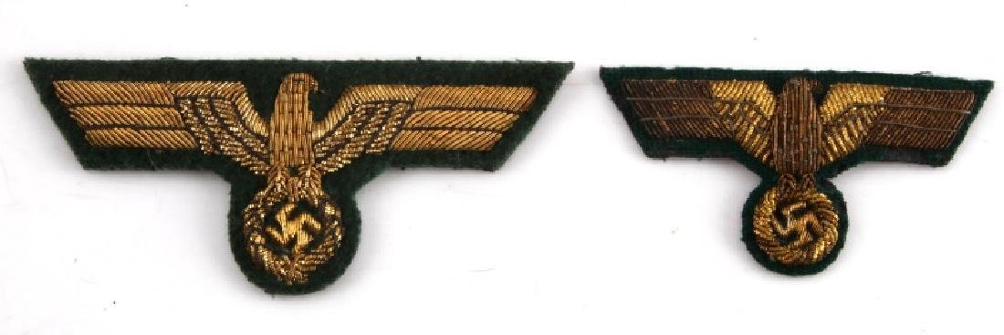 2 GERMAN WWII HEER BREAST EAGLE PATCHES