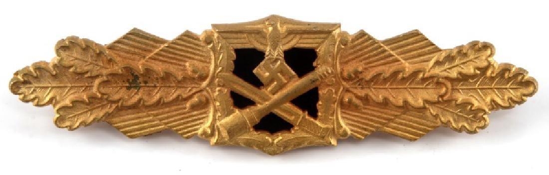 WWII GERMAN THIRD REICH GOLD CLOSE COMBAT CLASP