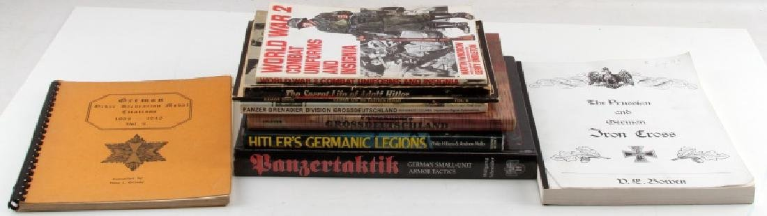 9 GERMAN WWII MILITARY BOOK LOT PANZERTAKTIK ETC