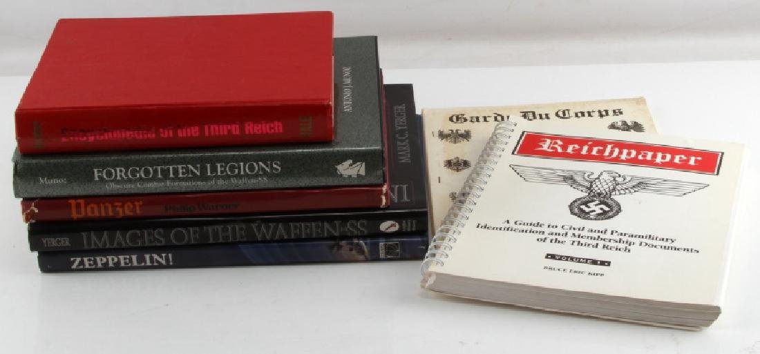 7 GERMAN WWII MILITARY BOOK LOT REICHPAPER ETC