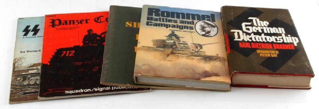 5 GERMAN & US MILITARY BOOK LOT WWII LATER ROMMEL
