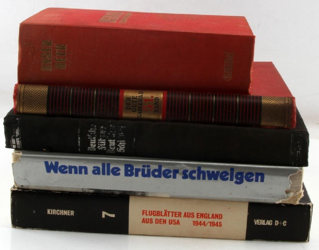 5 GERMAN WWII MILITARY BOOK LOT PROPAGANDA ETC