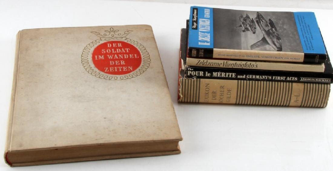 5 GERMAN WWII MILITARY BOOK LOT GERMANY'S 1ST ACES