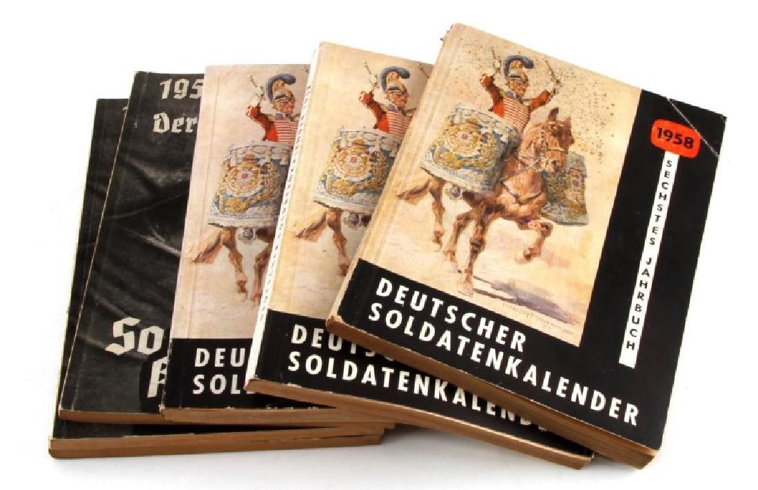 6 GERMAN POST WWII SOLDATEN KALENDER BOOK LOT