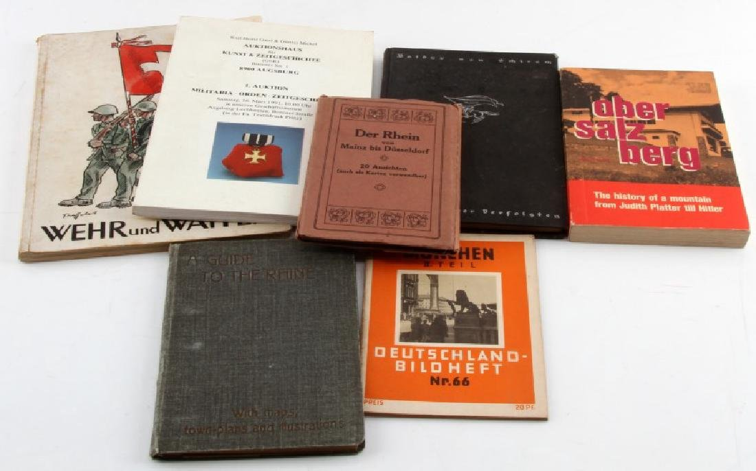 7 ASSORTED GERMAN WWII VINTAGE MILITARY BOOK LOT