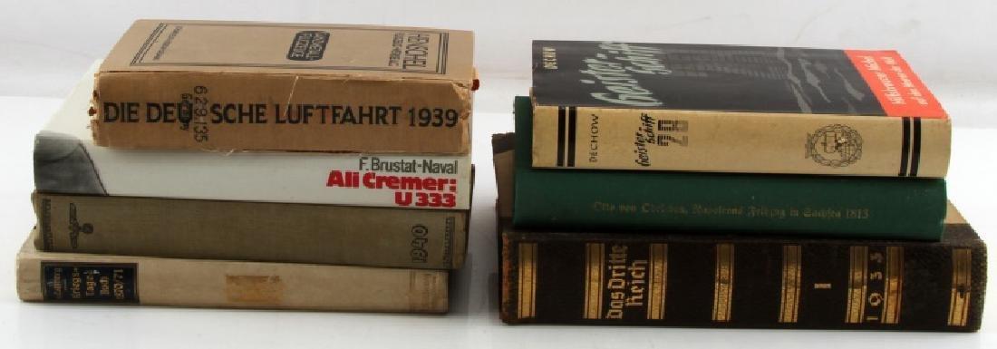 7 ASSORTED GERMAN WWII MILITARY BOOKS LUFTFAHRT