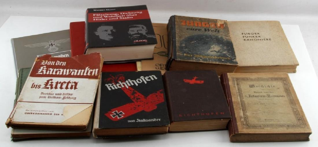 14 ASSORTED GERMAN WWII MILITARY HISTORY BOOKS