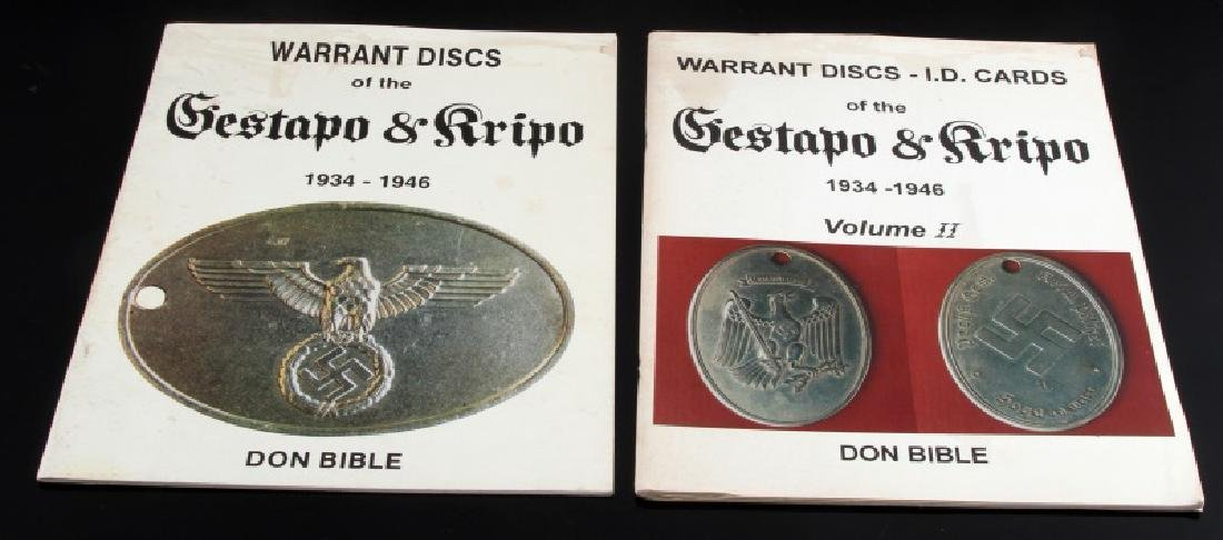 WWII GERMAN GESTAPO & KRIPO  BOOK LOT OF 2