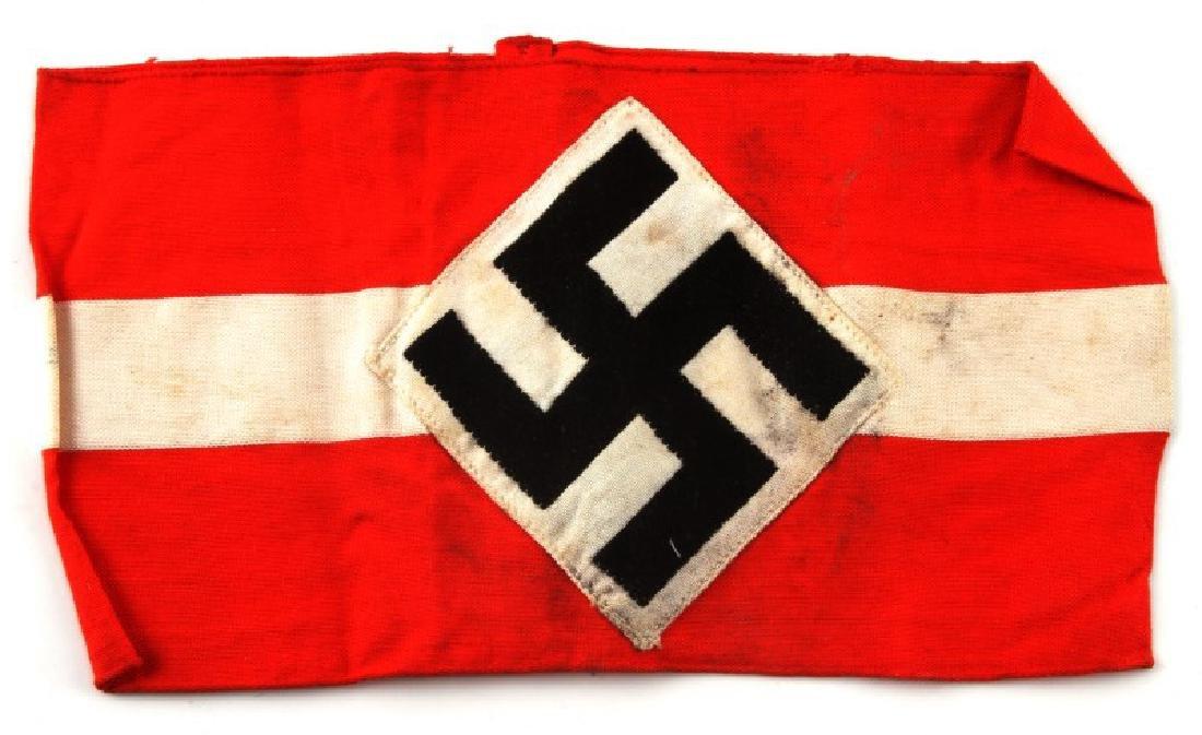 GERMAN WWII HITLER YOUTH STANDARD ARMBAND
