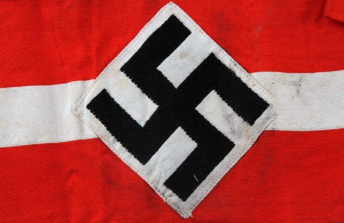 GERMAN WWII HITLER YOUTH STANDARD ARMBAND - 2