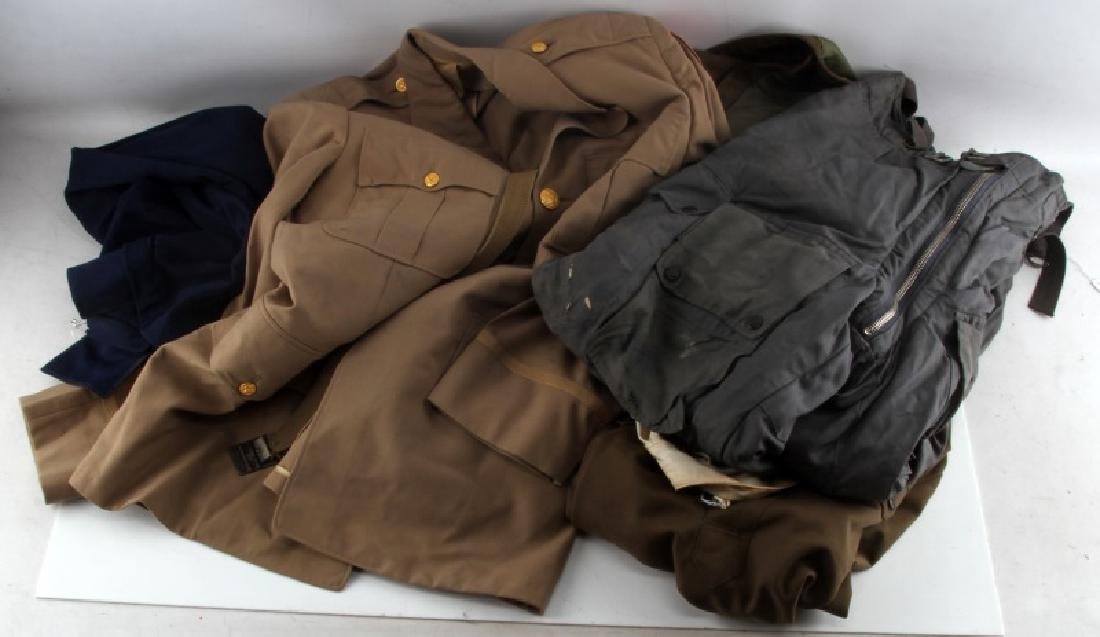 WWII & LATER MIXED COUNTRY MILITARY UNIFORM LOT