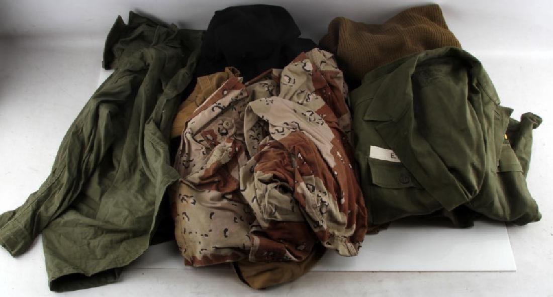 WWII TO DESERT STORM MILITARY UNIFORM LOT HBT