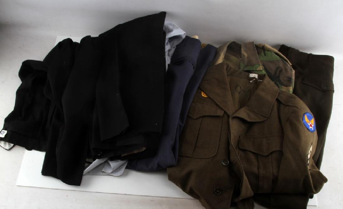 WWII TO GULF WAR MIXED MILITARY UNIFORM LOT