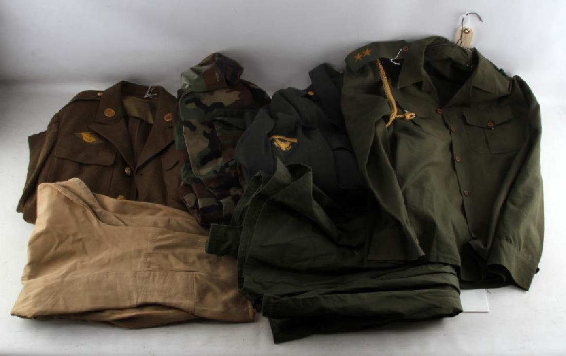 WWII TO DESERT STORM U.S. & IRAN UNIFORM LOT