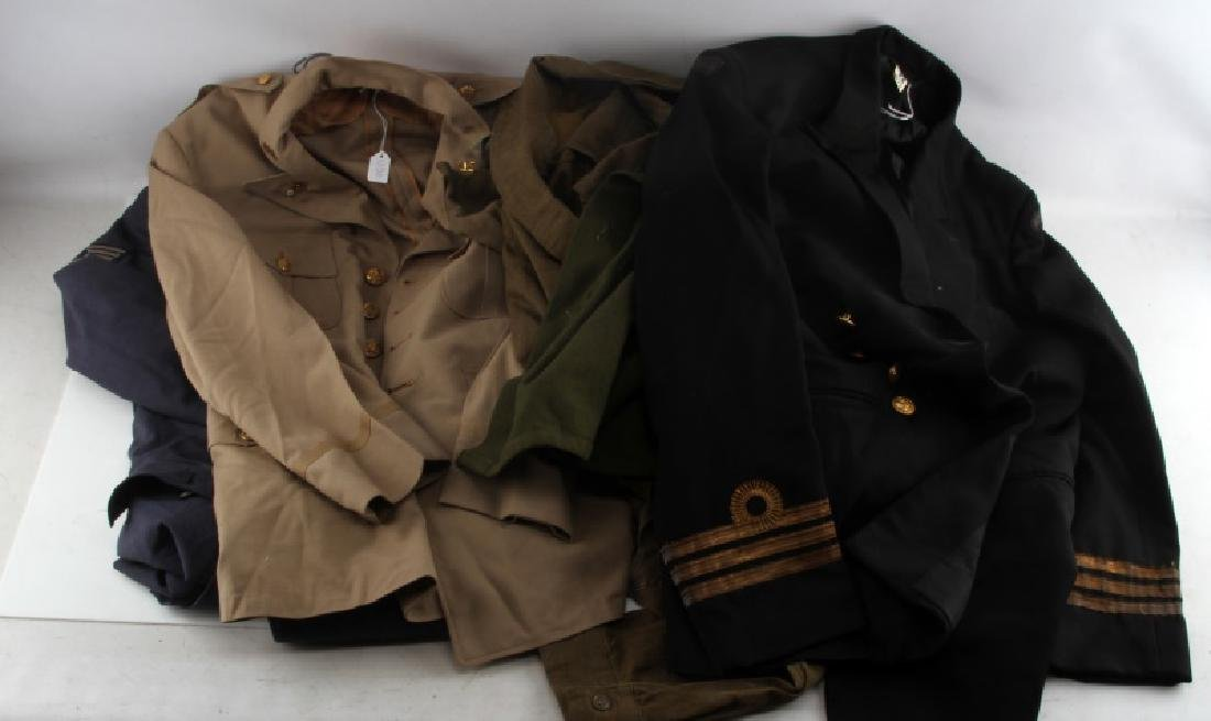 WWII & LATER US & WORLD MILITARY UNIFORM LOT