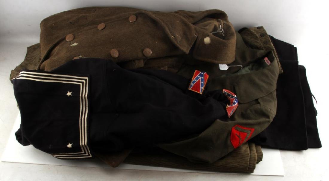 US NAVY USMC ARMY & GDR MILITARY UNIFORM LOT