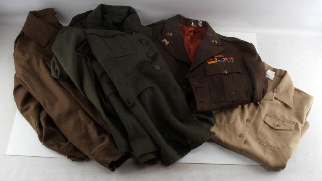 US NAVY ARMY AND MARINE CORPS UNIFORM LOT OF 3