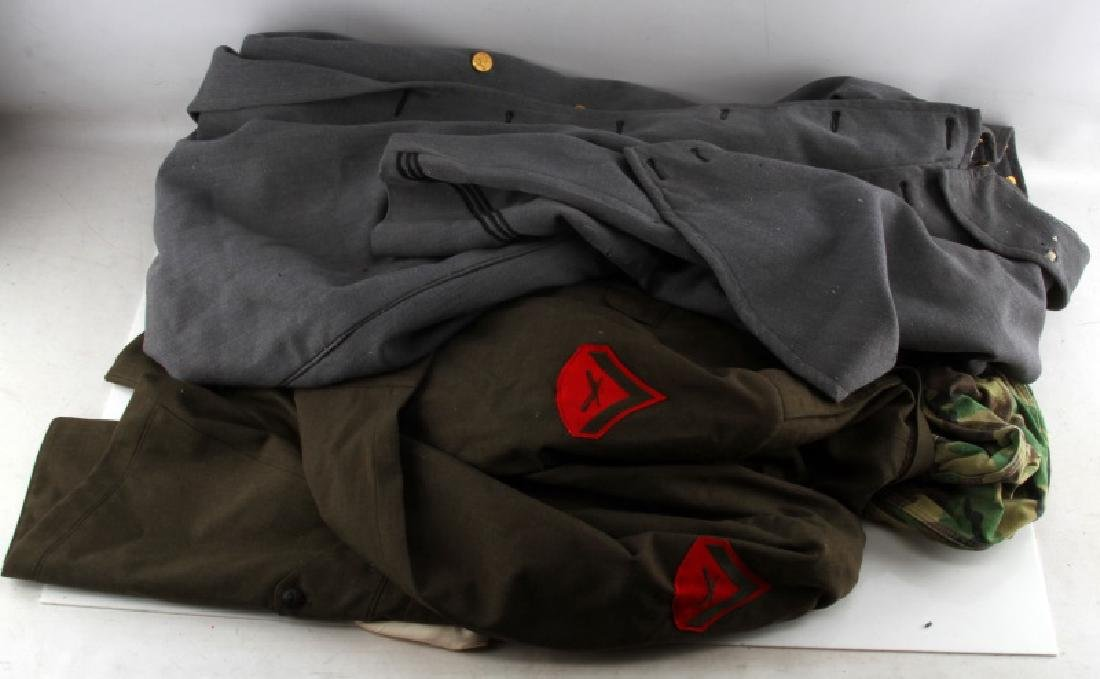 US WWII AND COLD WAR MILITARY UNIFORM MIX LOT