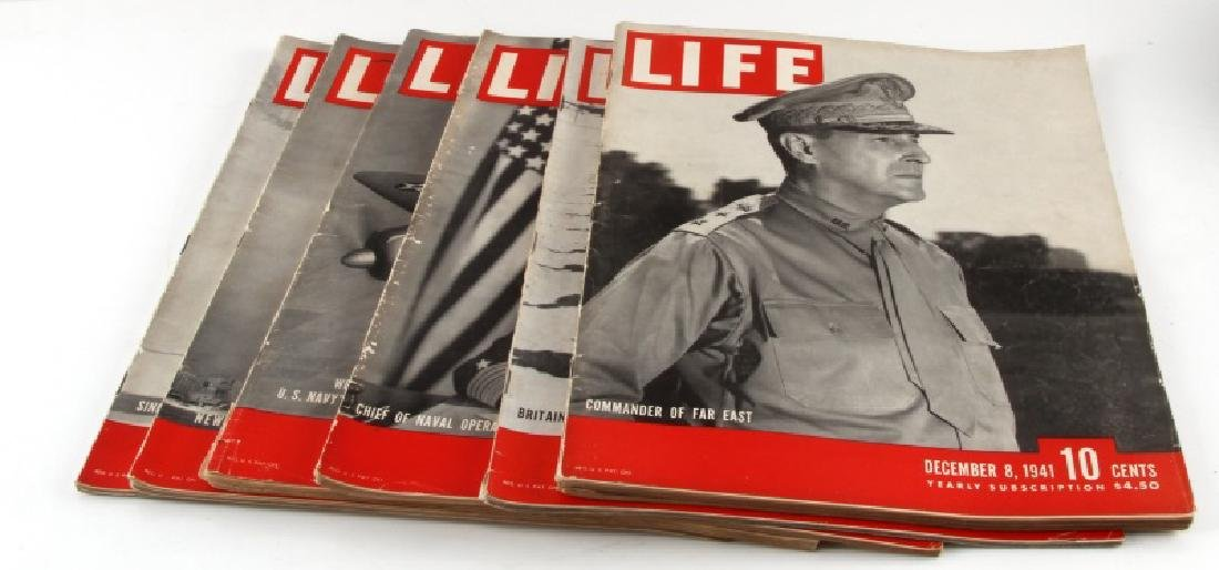 WWII TIME MAGAZINE LOT INCLUDES DECEMBER 8 1941