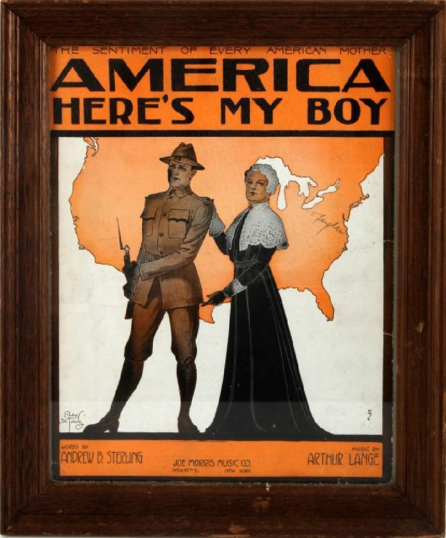 AMERICA HERES MY BOY WWI ERA ORIGINAL SHEET MUSIC