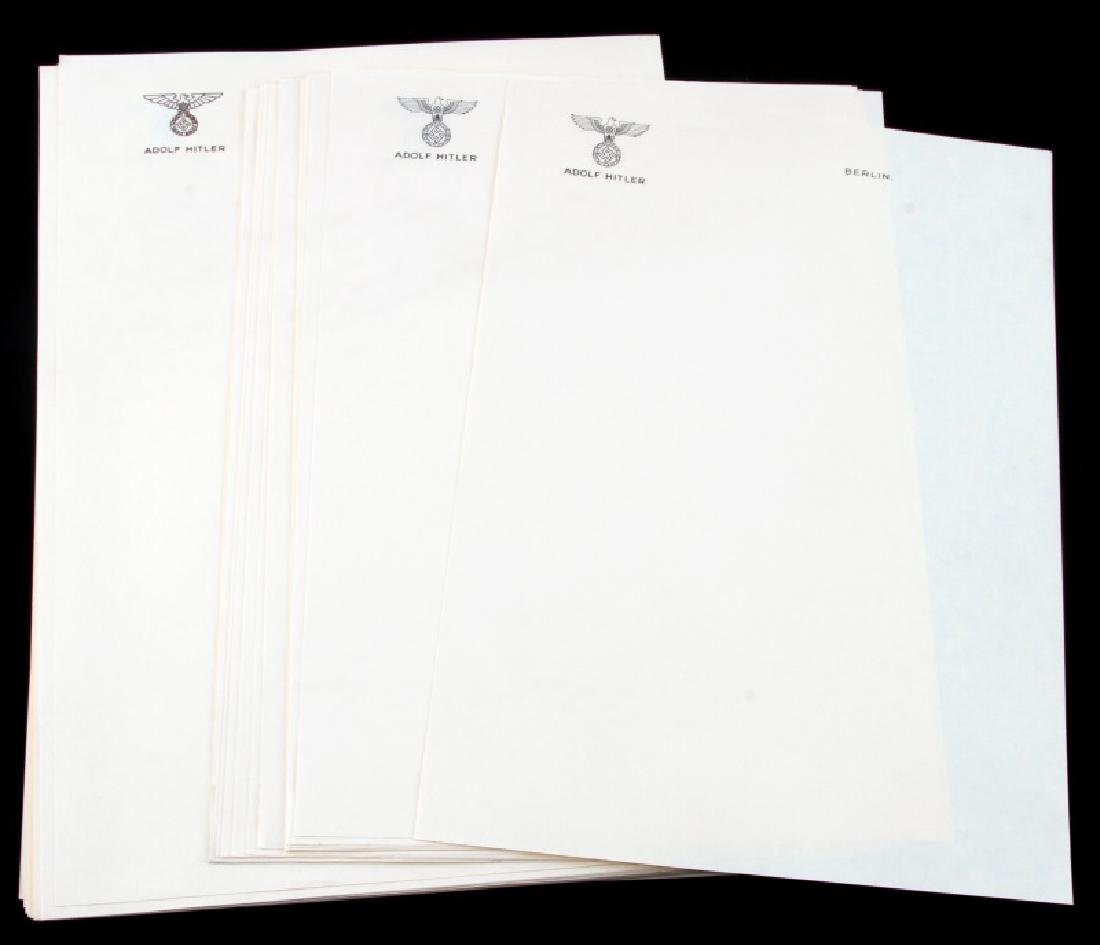 50 SHEETS OF HITLERS PERSONAL EMBOSSED LETTERHEAD