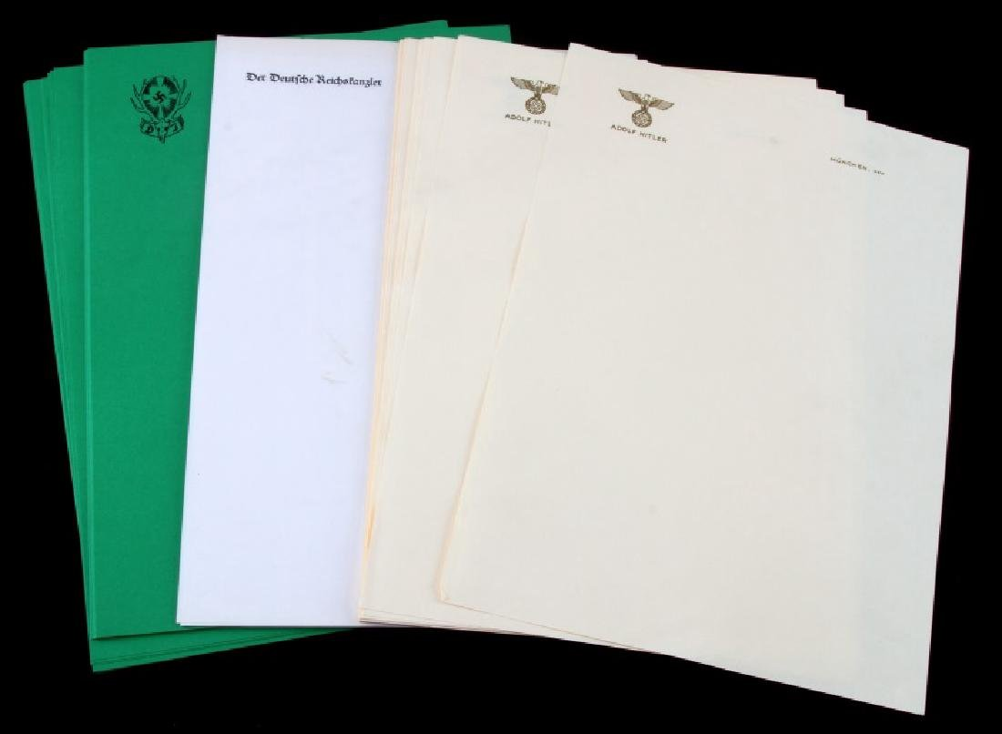 50 MIXED SHEETS OF HITLERS PERSONAL LETTERHEAD