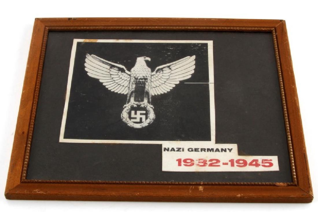1932 TO 1945 FRAMED SWASTIKA EAGLE IMAGE