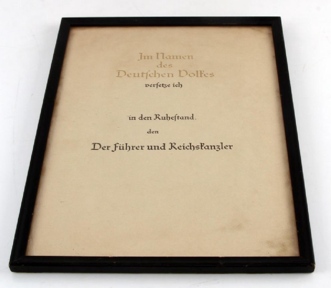WWII GERMAN UNNAMED CITATION ORDER REICHSKANZLER