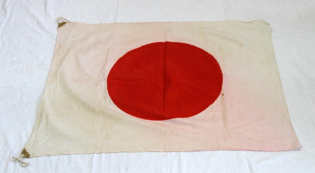 WWII JAPANESE MILITARY COTTON MEATBALL FLAG
