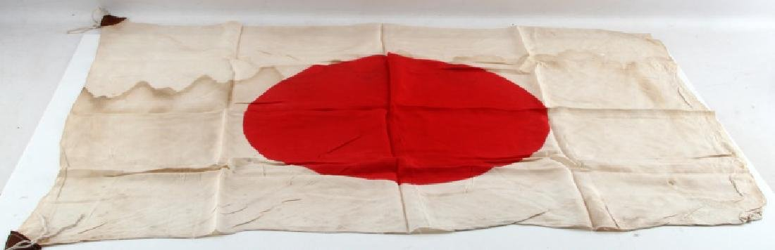 WWII IMPERIAL JAPANESE NATIONAL MEATBALL SILK FLAG