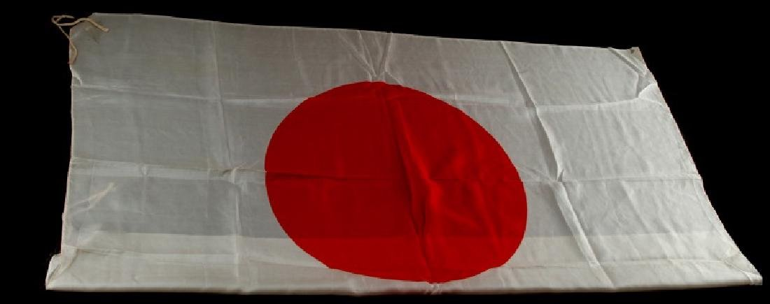 WWII JAPANESE IMPERIAL NATIONAL FLAG SILK MEATBALL