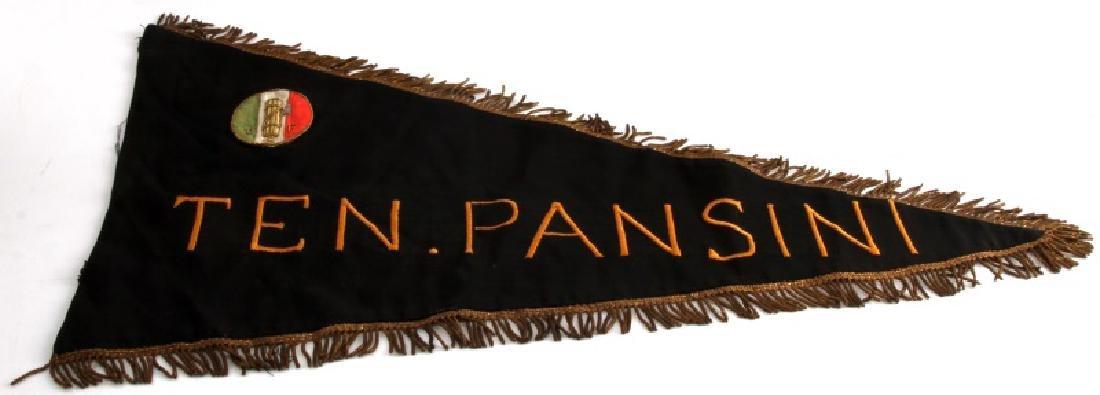 WWII ITALIAN FASCIST BANNER FLAG TEN PANSINI