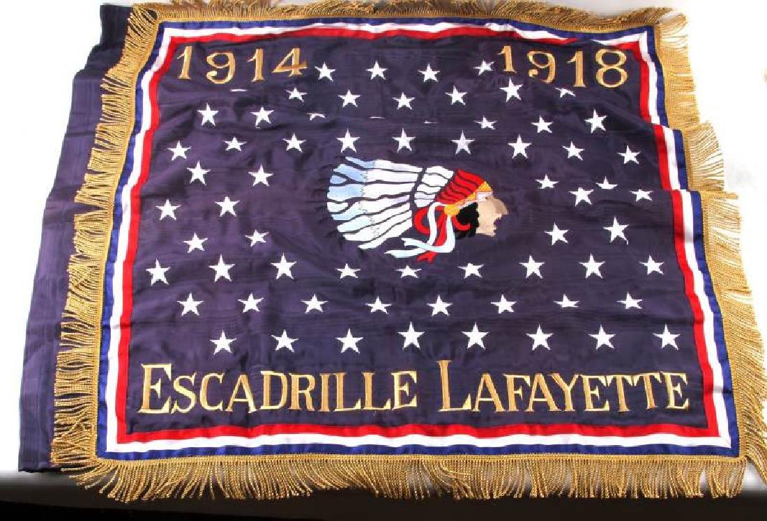 WWI ESCADRILLE LAFAYETTE AMERICAN VOLUNTEER BANNER