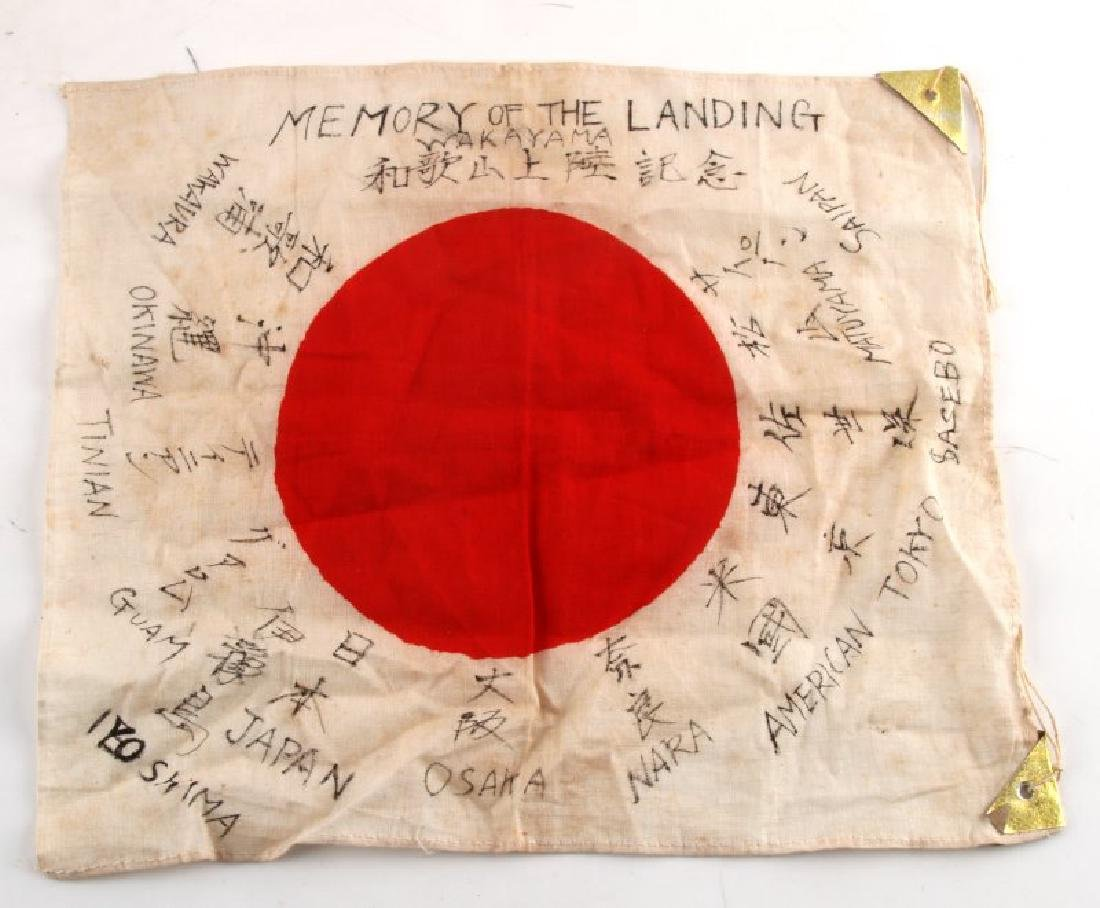 MEMORY OF THE LANDING SMALL JAPANESE MEATBALL FLAG